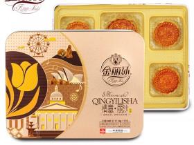 金丽沙丨情意丽沙760g月饼礼盒,郑州华美月饼团购总经销