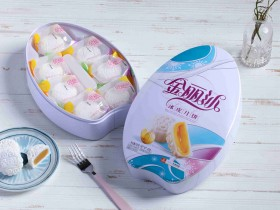 金丽沙雪月纯香420g冰皮月饼礼盒装,郑州金丽沙月饼厂家批发价格